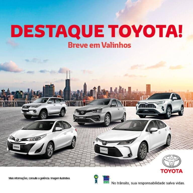 Banner Toyota Breve Loja em Valinhos